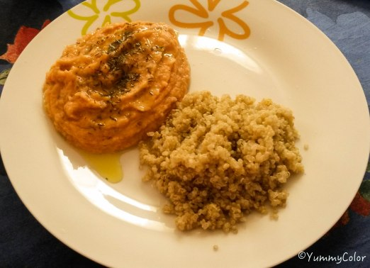 Purée de lentille corail tomate et quinoa
